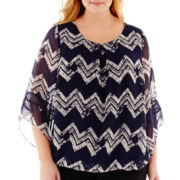 Alyx® 3/4-Sleeve Bubble Top - Plus