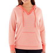 St. John's Bay® Long-Sleeve Hoodie Tunic - Plus