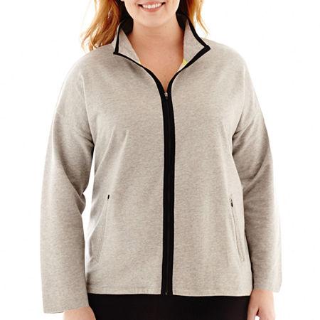 Liz Claiborne Zip-Front Mock-Neck Jacket - Plus