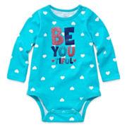 Okie Dokie® Long-Sleeve Graphic Bodysuit - Girls newborn-9m