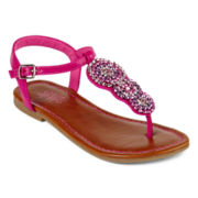 Stevies® Camelot Girls Ankle-Strap Sandals