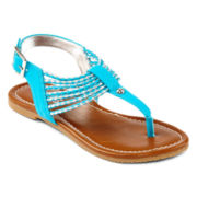 Stevies® Weaver Girls Banded Sandals - Little Kids/Big Kids