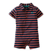 Carter's® Striped Turtle Romper - Boys newborn-24m