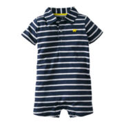 Carter's® Striped Elephant Romper - Boys newborn-24m