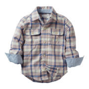 Carter's® Long-Sleeve Blue Plaid Shirt - Boys 2t-4t