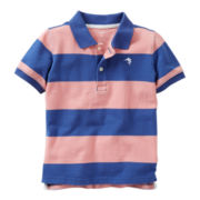 Carter's® Navy and Pink Short-Sleeve Polo - Boys 5-7