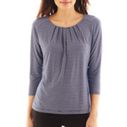 Liz Claiborne Long-Sleeve Knit Top - Petite