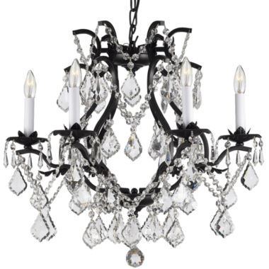 jcpenney.com | Gallery Versailles 6-Light Wrought Iron and Crystal Chandelier