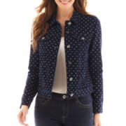 Liz Claiborne Dot Denim Jacket