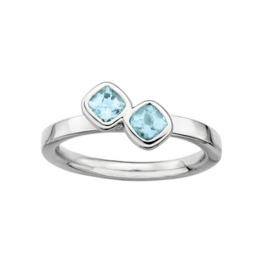jcpenney.com | Personally Stackable Sterling Silver Genuine Aquamarine Ring