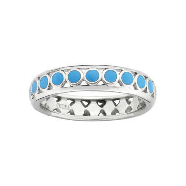 jcpenney.com | Personally Stackable Sterling Silver Light Blue Enamel Dot Ring