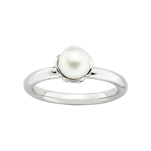 Personally Stackable Cultured Freshwater Pearl Ring