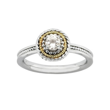 jcpenney.com | Personally Stackable Two-Tone Genuine White Topaz Ring