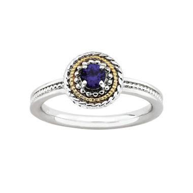 jcpenney.com | Personally Stackable Two-Tone Stackable Lab-Created Sapphire Ring