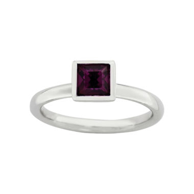 jcpenney.com | Personally Stackable Sterling Silver February Crystal Ring
