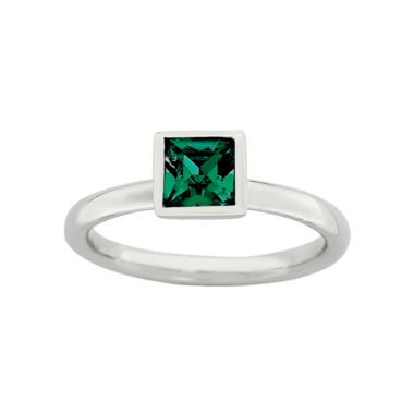 jcpenney.com | Personally Stackable Sterling Silver May Birthstone Crystal Ring