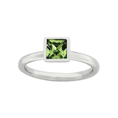 jcpenney.com | Personally Stackable Sterling Silver August Birthstone Crystal Ring