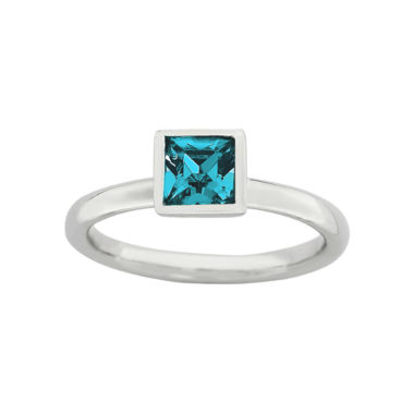 jcpenney.com | Personally Stackable Sterling Silver December Birthstone Crystal Ring
