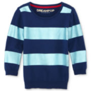 Dreampop® by Cynthia Rowley Stripe Sweater with Foil Accents – Girls 7-16