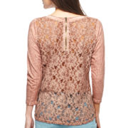 i jeans by Buffalo Lace-Back 3/4-Sleeve Top