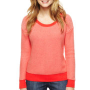 Liz Claiborne Sport Tuck-Stitch Sweater