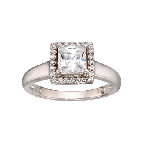 DiamonArt® Framed Princess Ring Sterling