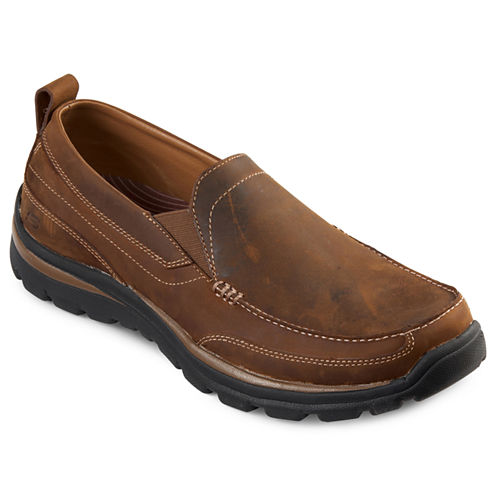 Skechers® Gains Leather Mens Slip-On Shoes