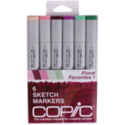 Copic 6-pk. Sketch Markers - Floral Favorites 1