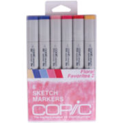 Copic 6-pk. Sketch Markers - Floral Favorites 2
