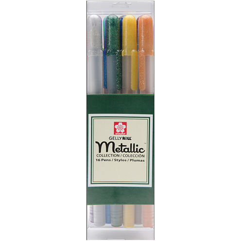 Gelly Roll Metallic Medium Point Pens - 16 Pack
