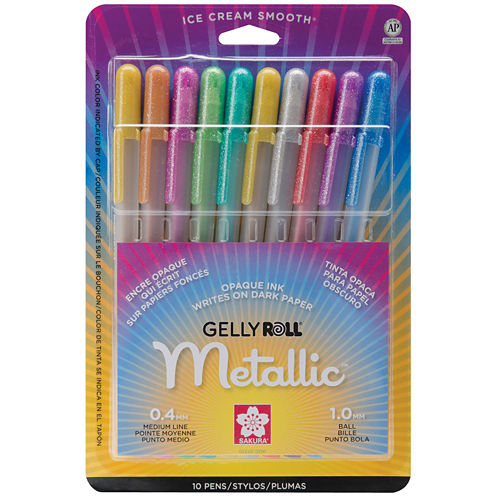 Gelly Roll Metallic Medium Point Pens – 10 Pack
