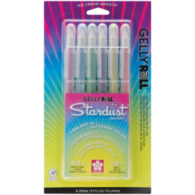 jcpenney.com | Gelly Roll Stardust Bold Point Pens – Galaxy 6 Pack