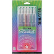 Gelly Roll Stardust Bold Point Pens - Meteor 6 Pack