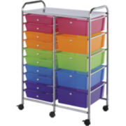 15-Drawer Double Storage Cart