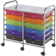 12-Drawer Double Storage Cart