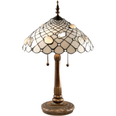 Dale tiffany ivory shell table lamp dale tiffany ivory shell table lamp aloadofball Images