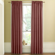 Fortune Faux-Silk Solid Rod-Pocket Curtain Panel