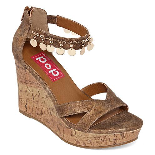 Pop Wizard Womens Wedge Sandals