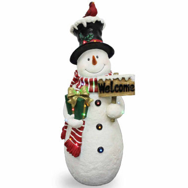 "jcpenney.com | National Tree Company® 28½"" White Snowman with Sign"