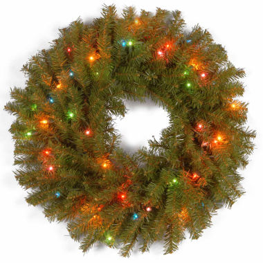 "jcpenney.com | National Tree Company® 24"" Norwood Fir Pre-Lit Wreath"