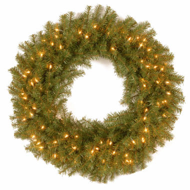 "jcpenney.com | National Tree Company® 30"" Norwood Fir Pre-Lit Wreath"