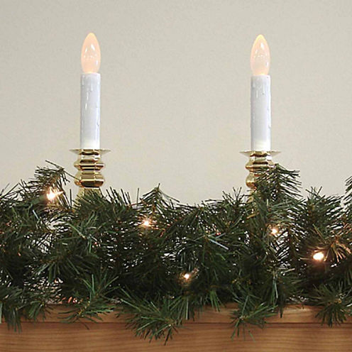 9 Ft. Pre-Lit Canadian Pine Artificial Christmas Garland with Clear Lights