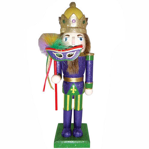 """14"""" Mardi Gras King Nutcracker"""