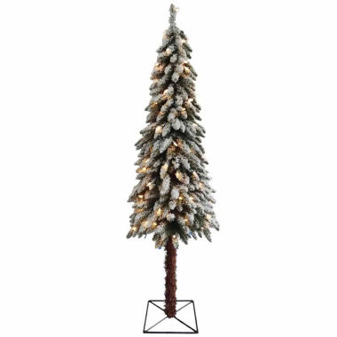 jcpenney.com | 7' Pre-Lit Flocked Alpine Artificial Christmas Tree with Clear Lights