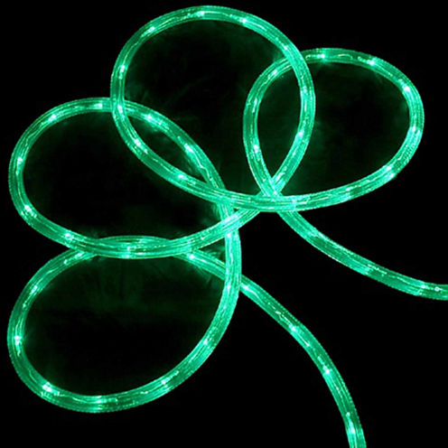 "18' Green LED Indoor/Outdoor Christmas Rope Lightswith 2"" Bulb Spacing"""