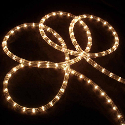 """18' Clear Indoor/Outdoor Christmas Rope Lights with 1"""" Bulb Spacing"""""""