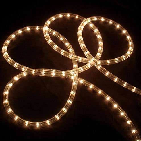 """102' Clear Indoor/Outdoor Christmas Rope Lights with 1"""" Bulb Spacing"""""""