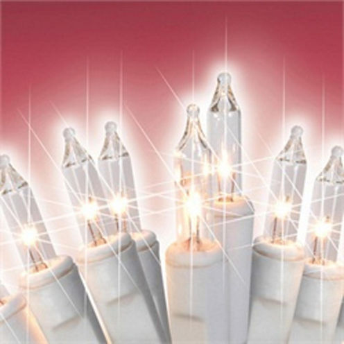 """Set of 300 Warm White Mini Icicle Christmas Lights 3"""" Spacing with White Wire"""