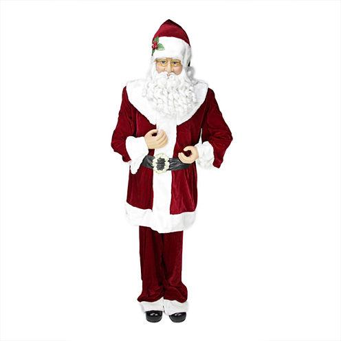 Huge 6' Life-Size Plush Santa Claus Figurine