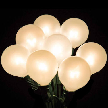 jcpenney.com | Set of 20 Clear White Opaque G50 Globe Party Wedding Christmas Lights with Green Wire